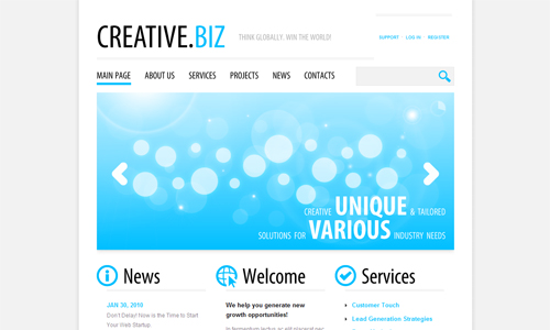 Corporate WordPress Themes - Creative.Biz