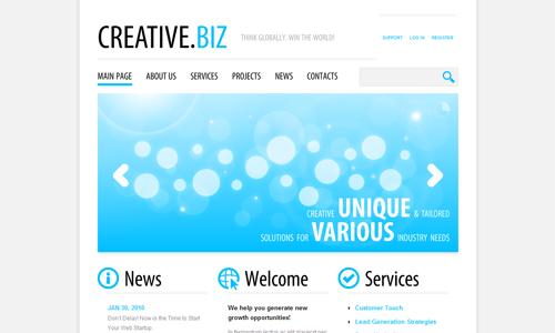 Corporate WordPress Themes - Creative.Biz