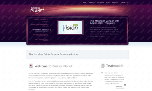 Corporate WordPress Themes - Business Planet