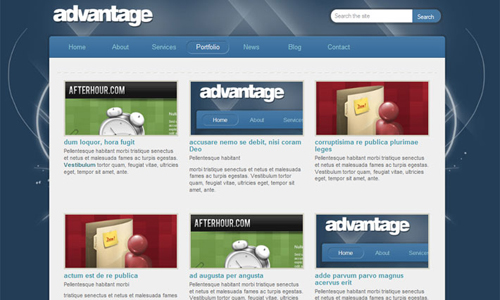 Corporate WordPress Themes - Advantage