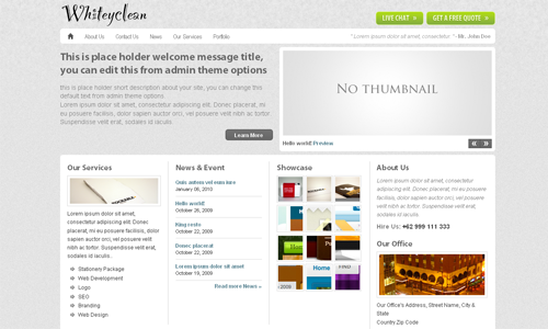 Corporate WordPress Themes - Whiteyclean