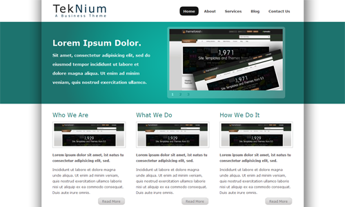 Corporate WordPress Themes - Teknium