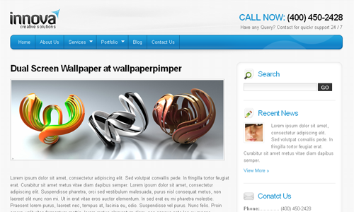 Corporate WordPress Themes - Innova