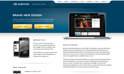 Corporate WordPress Themes - Ambition