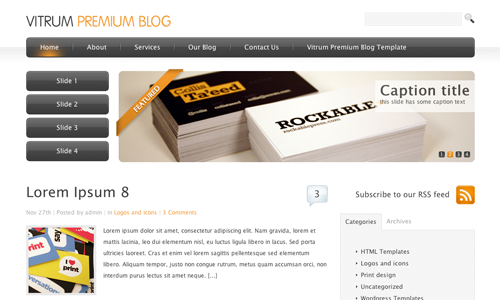 Corporate WordPress Themes - Vitrum