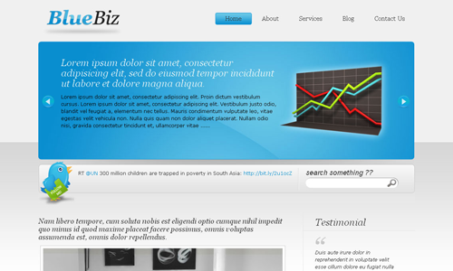Corporate WordPress Themes - Biz Template