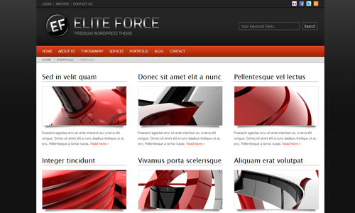 Corporate WordPress Themes - Elite Force