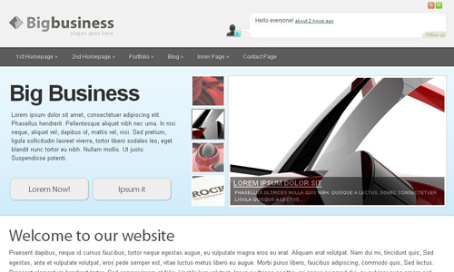Corporate WordPress Themes - Big Business
