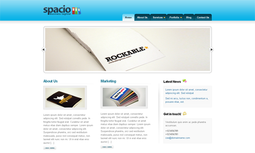 Corporate WordPress Themes - Spacio
