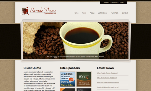 Corporate WordPress Themes - WPA Parade Theme