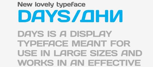 days typeface