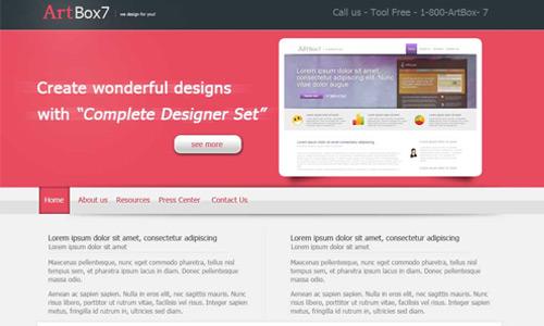business company web layout tutorial