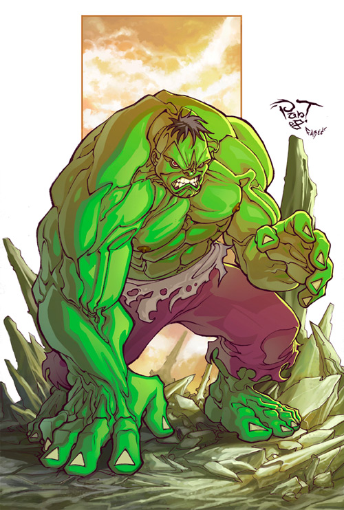 the green big hulk
