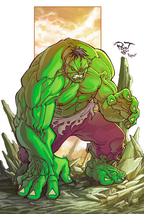 the green big hulk