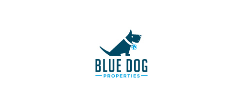 blue dog logo design
