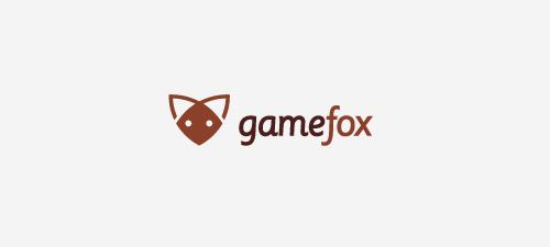 game fox animal logo design