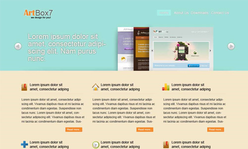 colorful web layout tutorial