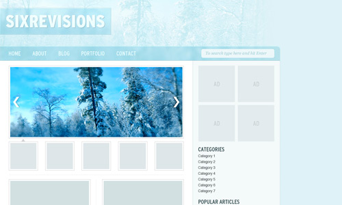 winter theme web design