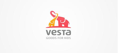 vesta animal logo design