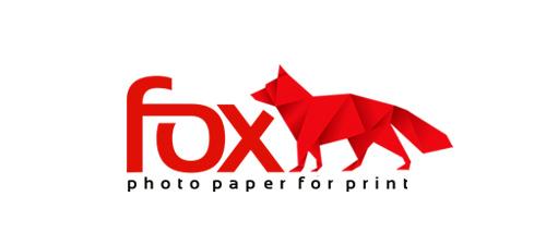 fox paper animal logo design