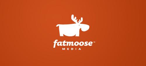 fat moose logo design