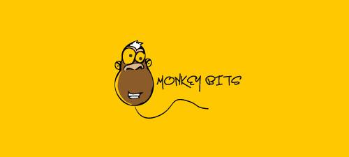 minkey animal logo design