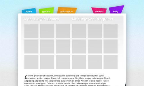 kids oriented web layout tutorial