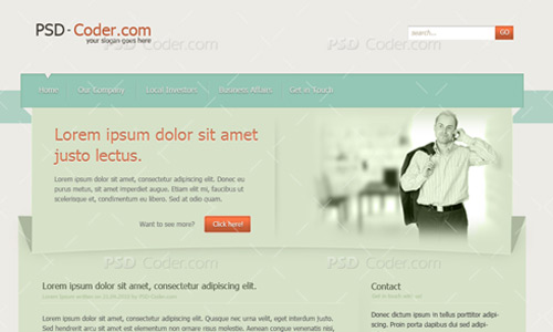 business web layout tutorial