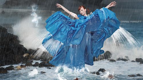 water splash photo manipulation