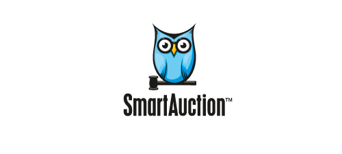 smart auction animal logo design
