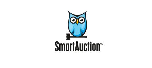 smart auction animal logo design