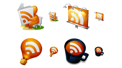 fresh, free and gorgeous rss/feed icons