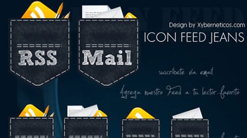 free jeans rss icons