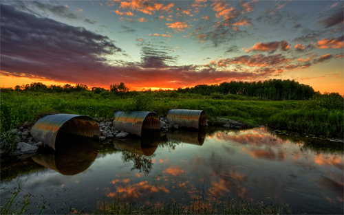 3 culvert sunset