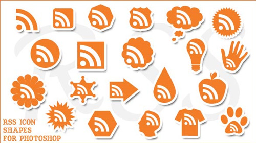 rss feed icon photoshop shapes