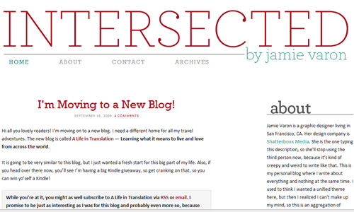 inter sected blog