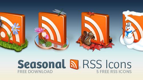 free icons: decorative seasonal rss icon pack