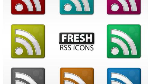 free fresh slick rss icon set