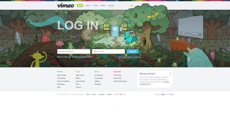 9-Log In to Vimeo