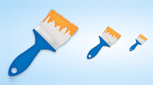 create a simple paint brush icon