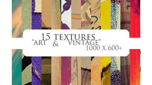 15 textures art vintage