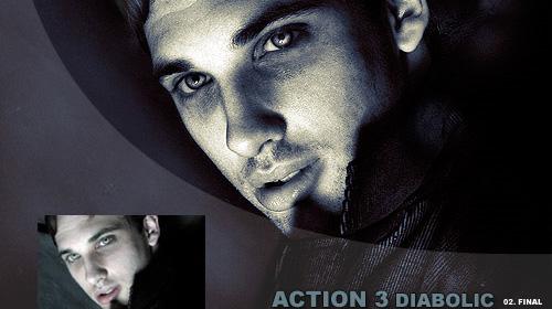 photoshop action diabolic