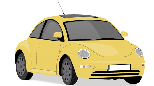 make vector car from photo in illustrator
