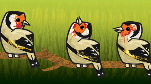 create textured european goldfinch characters