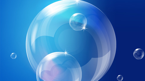 how to create realistic vector bubbles
