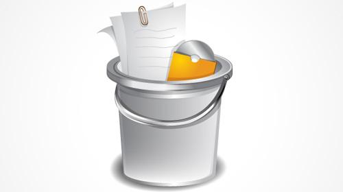 how to create a shiny bucket icon