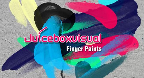 finger paints brush