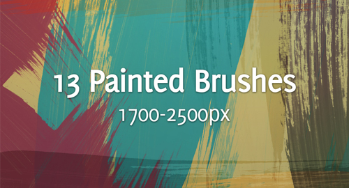 painted strokes brushes