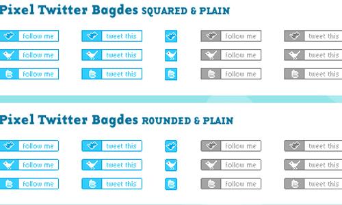 pixel twitter icons