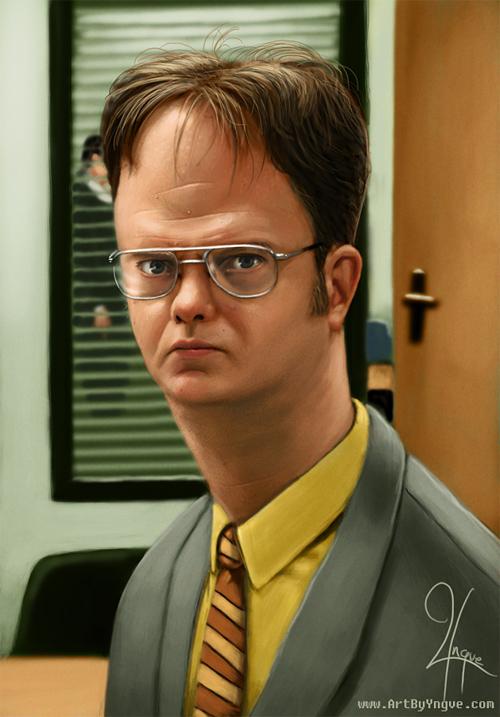 Dwight Schrute caricature